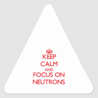 Keep Calm and focus on Neutrons Stickers