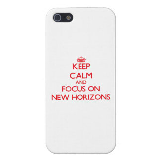 Keep Calm and focus on New Horizons iPhone 5 Cases