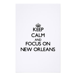 Keep Calm and focus on New Orleans Custom Stationery