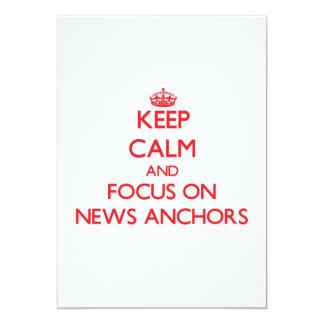 Keep calm and focus on NEWS ANCHORS Custom Invitation