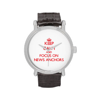 Keep calm and focus on NEWS ANCHORS Wristwatches
