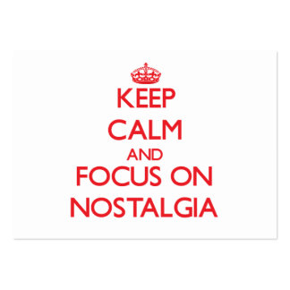 Keep Calm and focus on Nostalgia Business Card Templates