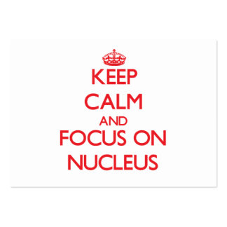 Keep Calm and focus on Nucleus Business Card Template