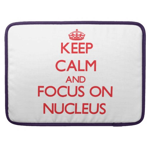 Keep Calm and focus on Nucleus Sleeves For MacBook Pro