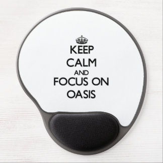 Keep Calm and focus on Oasis Gel Mouse Pads