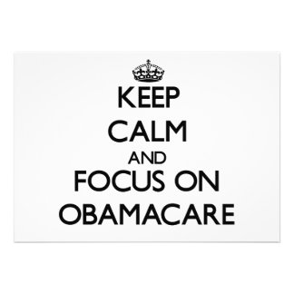 Keep Calm and focus on Obamacare Announcements