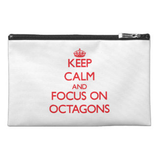 kEEP cALM AND FOCUS ON oCTAGONS Travel Accessories Bags