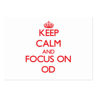 Keep Calm and focus on Od Business Card Template