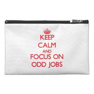 kEEP cALM AND FOCUS ON oDD jOBS Travel Accessory Bag