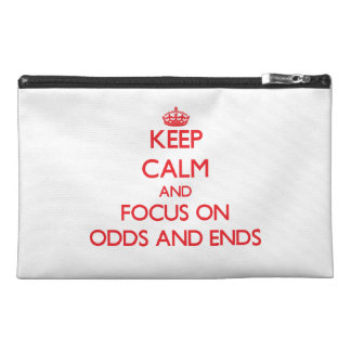 kEEP cALM AND FOCUS ON oDDS aND eNDS Travel Accessory Bag