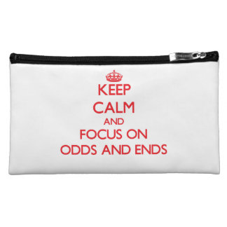 kEEP cALM AND FOCUS ON oDDS aND eNDS Makeup Bags