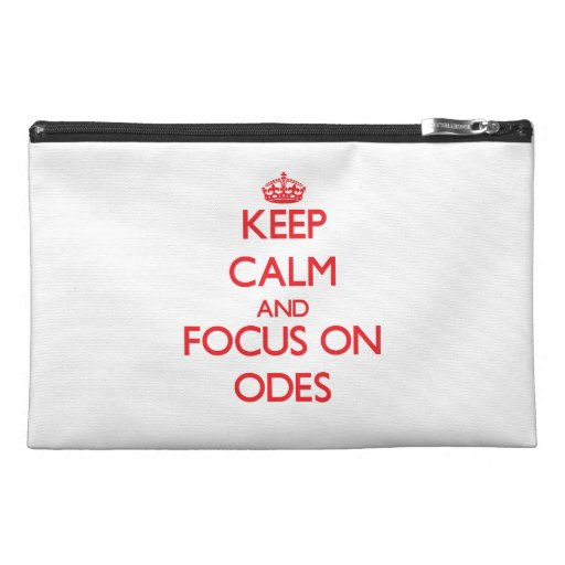 kEEP cALM AND FOCUS ON oDES Travel Accessory Bags