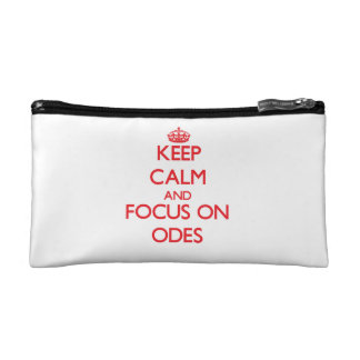 kEEP cALM AND FOCUS ON oDES Cosmetics Bags