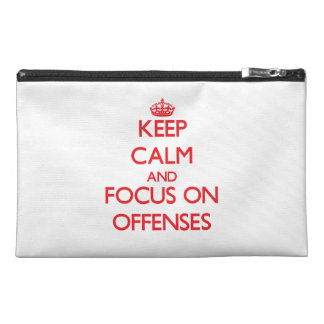 kEEP cALM AND FOCUS ON oFFENSES Travel Accessory Bags