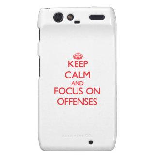 kEEP cALM AND FOCUS ON oFFENSES Motorola Droid RAZR Case
