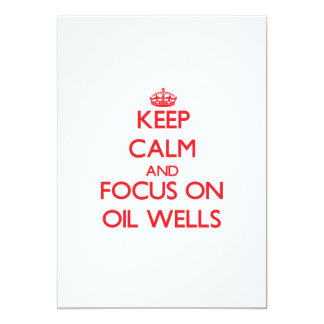 kEEP cALM AND FOCUS ON oIL wELLS Announcement