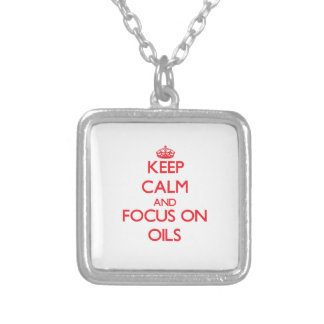 kEEP cALM AND FOCUS ON oILS Custom Jewelry