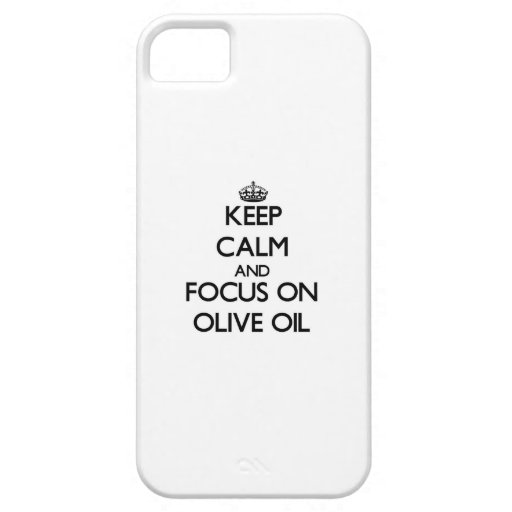 Keep Calm and focus on Olive Oil iPhone 5 Case