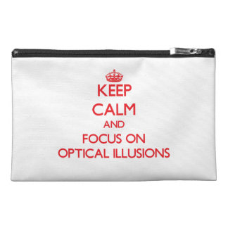 kEEP cALM AND FOCUS ON oPTICAL iLLUSIONS Travel Accessory Bag
