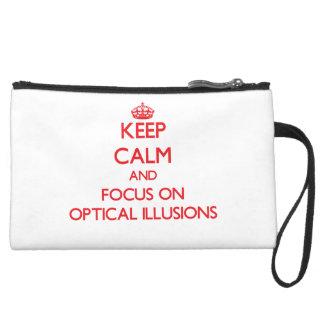 kEEP cALM AND FOCUS ON oPTICAL iLLUSIONS Wristlet Purse