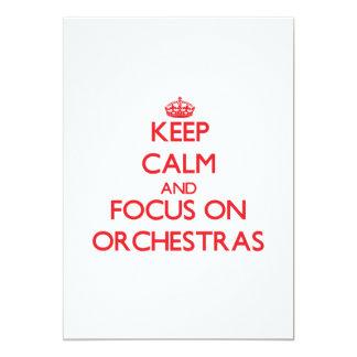 Keep Calm and focus on Orchestras 13 Cm X 18 Cm Invitation Card