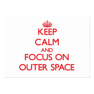 Keep Calm and focus on Outer Space Business Cards