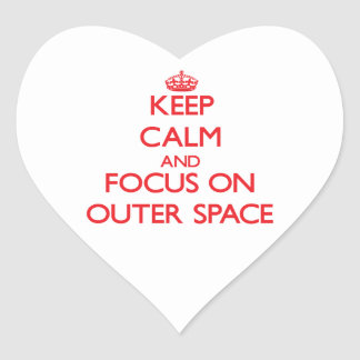 Keep Calm and focus on Outer Space Stickers