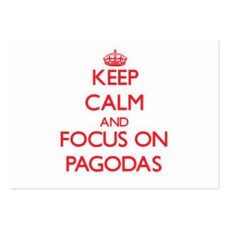 Keep Calm and focus on Pagodas Business Card