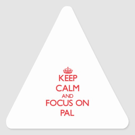 Keep Calm and focus on Pal Sticker