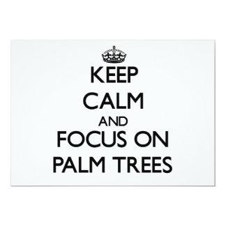 Keep Calm and focus on Palm Trees Card