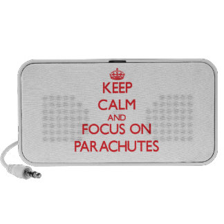 Keep Calm and focus on Parachutes iPod Speaker