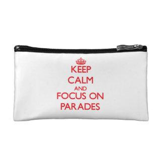kEEP cALM AND FOCUS ON pARADES Makeup Bag