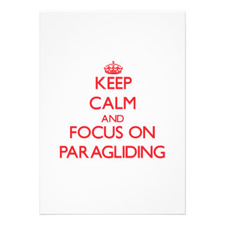 Keep calm and focus on Paragliding Announcements