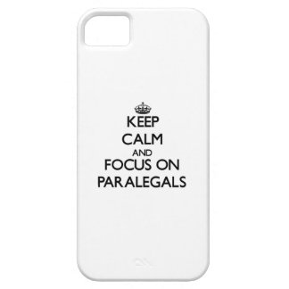 Keep Calm and focus on Paralegals iPhone 5 Cases