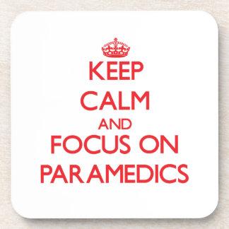 Keep Calm and focus on Paramedics Beverage Coasters