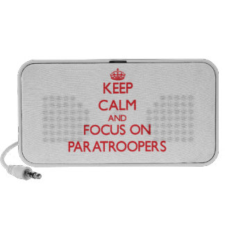 Keep Calm and focus on Paratroopers iPhone Speaker