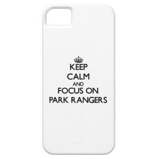 Keep Calm and focus on Park Rangers iPhone 5 Case