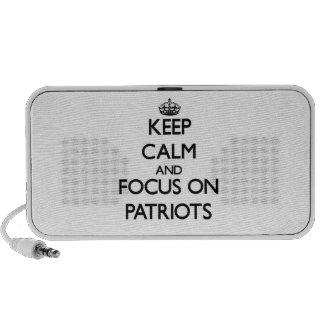 Keep Calm and focus on Patriots iPod Speaker