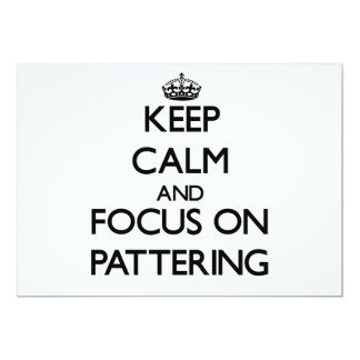 Keep Calm and focus on Pattering Personalized Announcements