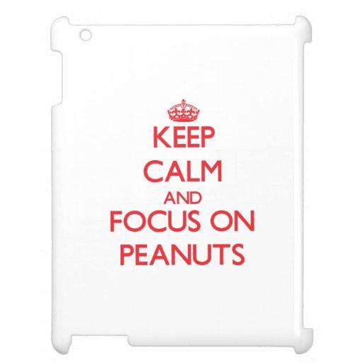 Keep Calm and focus on Peanuts iPad Case