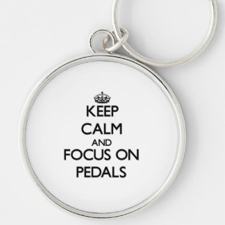 Keep Calm and focus on Pedals Keychain