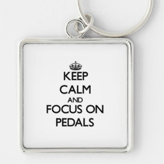 Keep Calm and focus on Pedals Key Chains