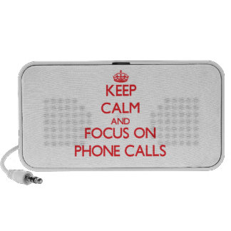 Keep Calm and focus on Phone Calls Mp3 Speakers