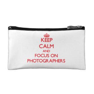 Keep Calm and focus on Photographers Makeup Bag