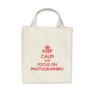 Keep Calm and focus on Photographers Canvas Bags