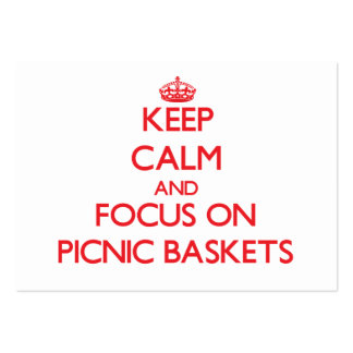 Keep Calm and focus on Picnic Baskets Business Cards