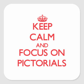 Keep Calm and focus on Pictorials Square Sticker