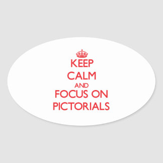 Keep Calm and focus on Pictorials Sticker