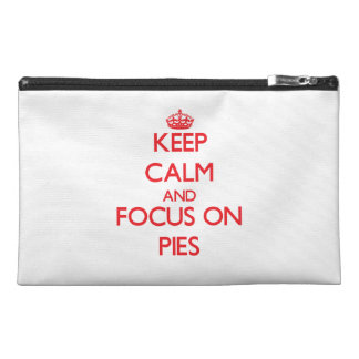 Keep Calm and focus on Pies Travel Accessory Bags