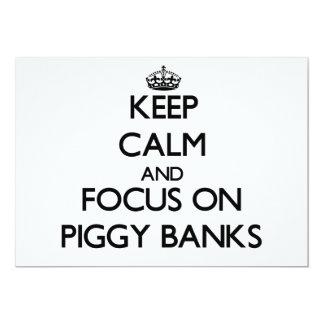 Keep Calm and focus on Piggy Banks Invitation